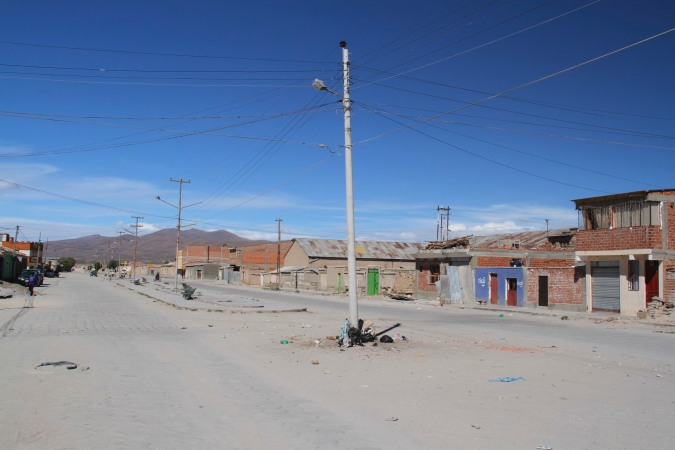 Typical street, Uyuni, Bolivia
