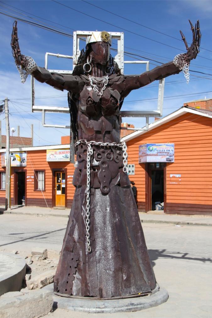 Sculpture, Unyuni, Bolivia