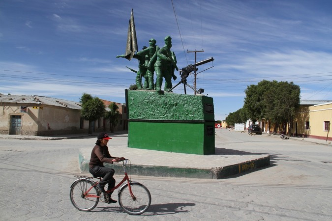 Monument to the Chaco War, Uyuni, Bolivia