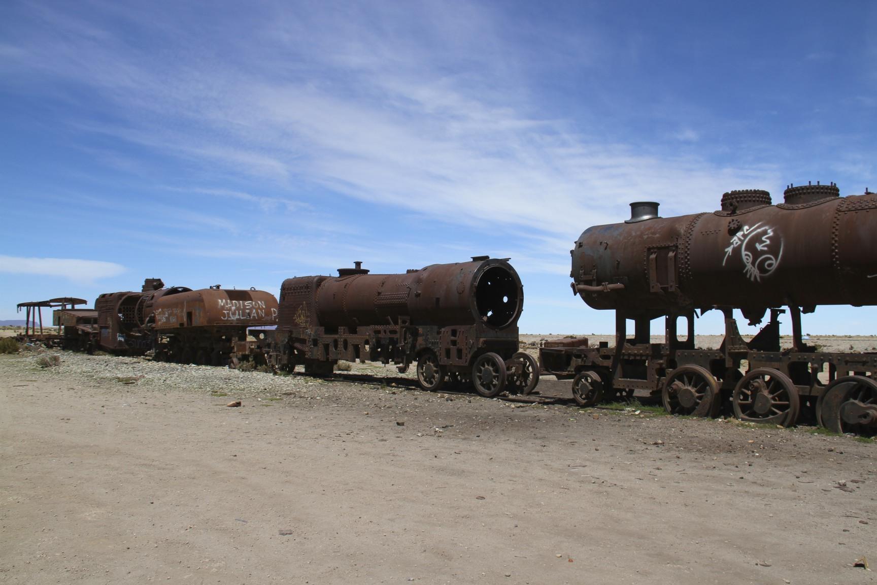 Where Trains Go To Rust Uyunis Train Cemetery on Sight Word Am