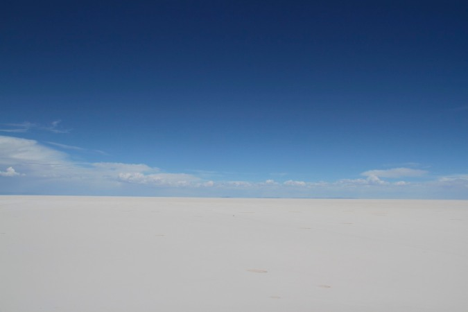 The immense Salar de Uyuni, Bolivia