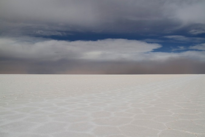 Red rain, the approaching storm, Salar de Uyuni, Bolivia