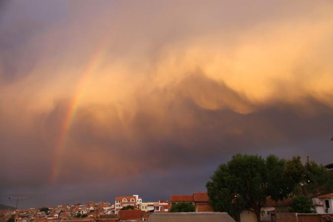 Rainbow over Sucre, Bolivia