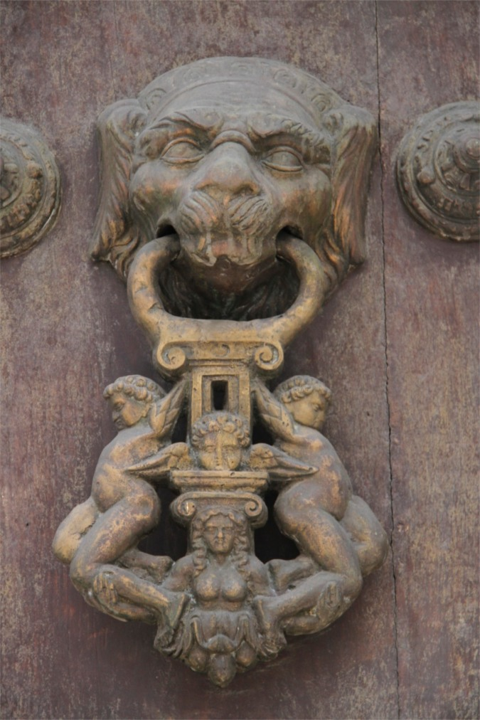 Detail of a church door, Sucre, Bolivia