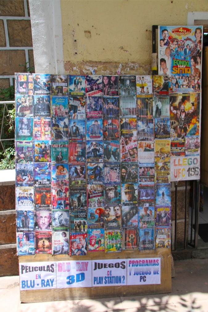 Bootleg DVDs for sale, Sucre, Bolivia