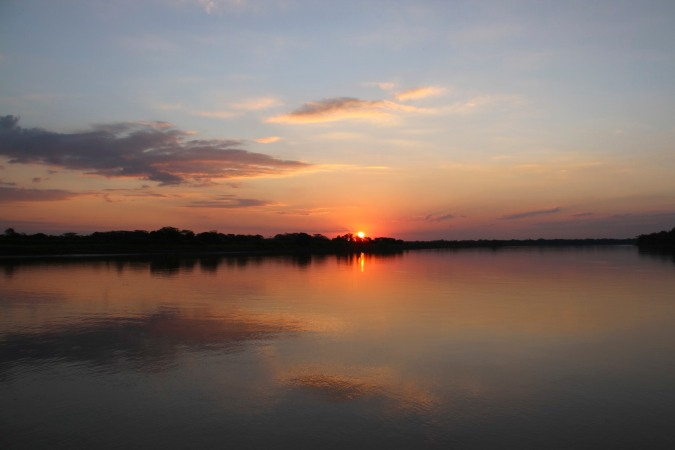 Sunset over the Rio Mamore, Bolivian Amazon