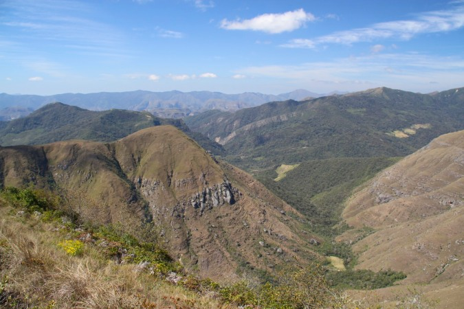 Rolling wooded hills and deep valleys, Samaipata, Bolivia