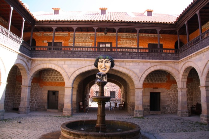 Entrance to the Casa de la Moneda, Potosi, Bolivia
