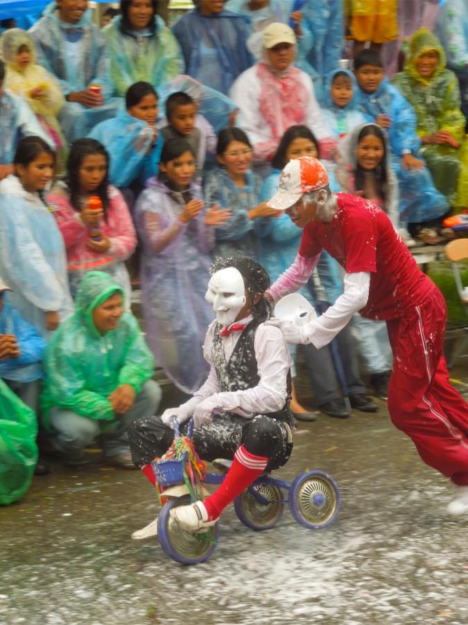 Performers at carneval, Tarija, Bolivia
