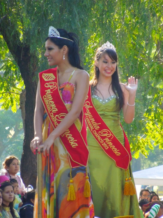 First and second 'princesses' of the carneval, Tarija, Bolivia