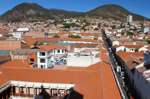 Sucre from the roof of Convento de San Felipe Neri, Bolivia