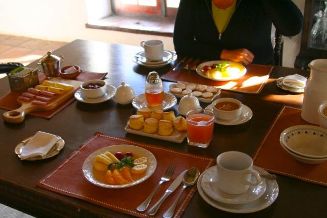 Breakfast, Bodega El Molino de Cachi, Argentina