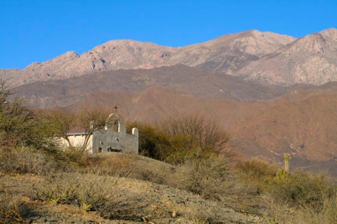 Landscape surrounding the Bodega El Molino de Cachi, Argentina