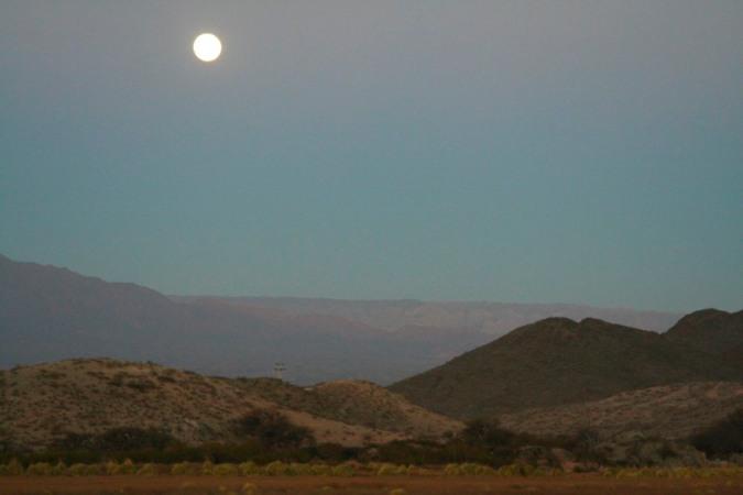 Full moon, Molinos, Argentina