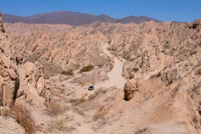 Our Volkswagen Gol on the Ruta 40 between Molinos and Cafayate, Argentina