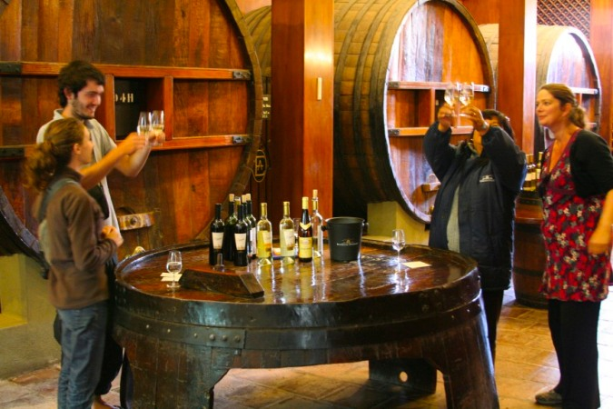 WIne tasting at the Bodega Etchart, Cafayate, Argentina