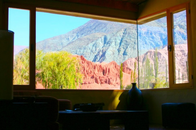 view from the cabana, Purmamarca, Argentina