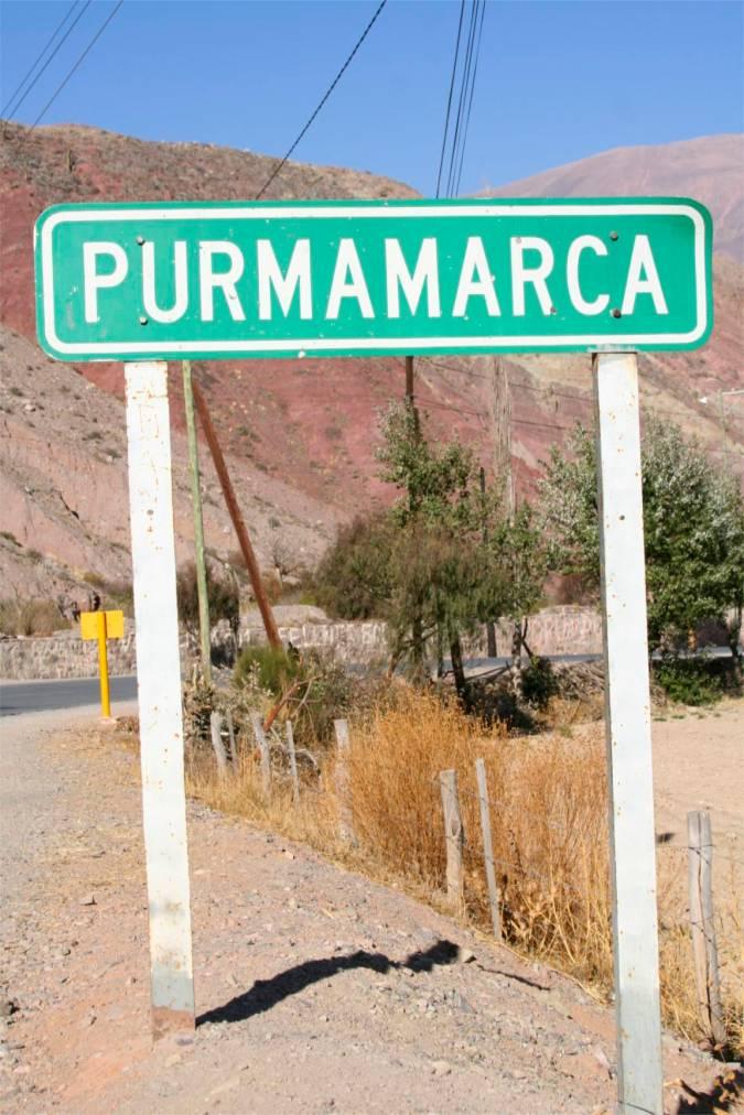 Arrival in Purmamarca, Argentina