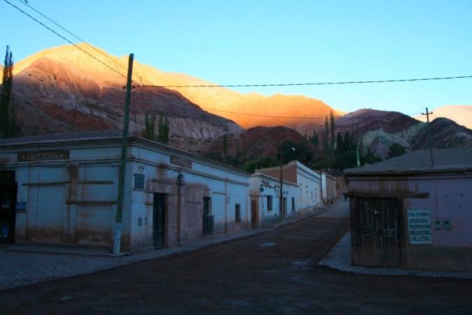 Dawn over Cerro de los Siete Colores, Purmamarca, Argentina