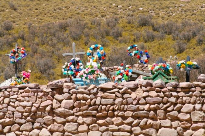 Cemetery en route to Iruya, Argentina
