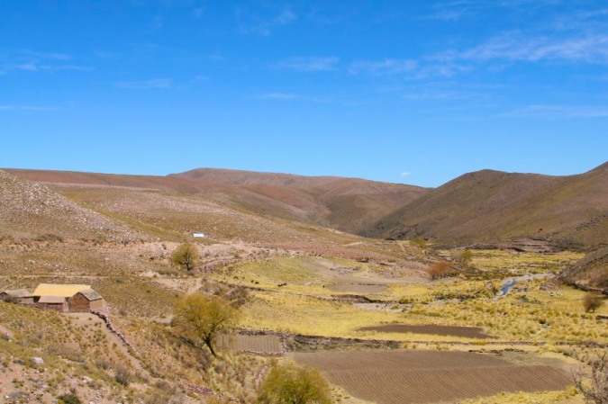 Valley en route to Iruya, Argentina
