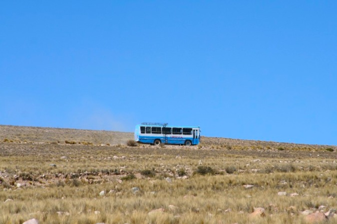 Bus, en route to Iruya, Argentina