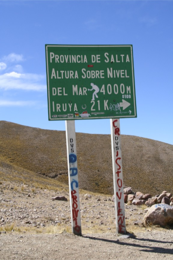 High point of the journey to Iruya, Argentina