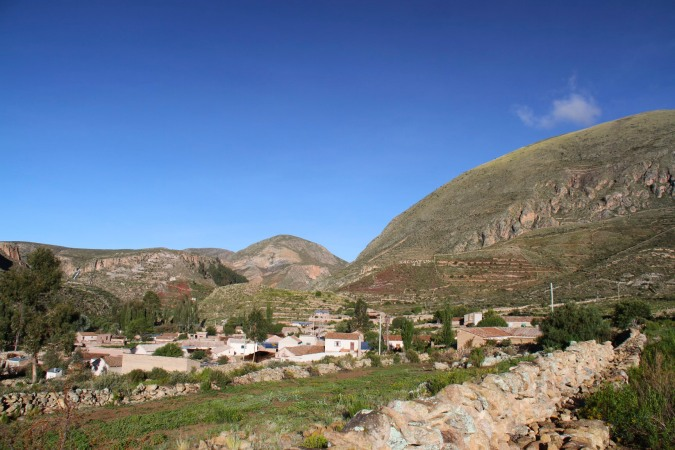 Early morning in the sleepy village of Cayara, Potosi, Bolivia