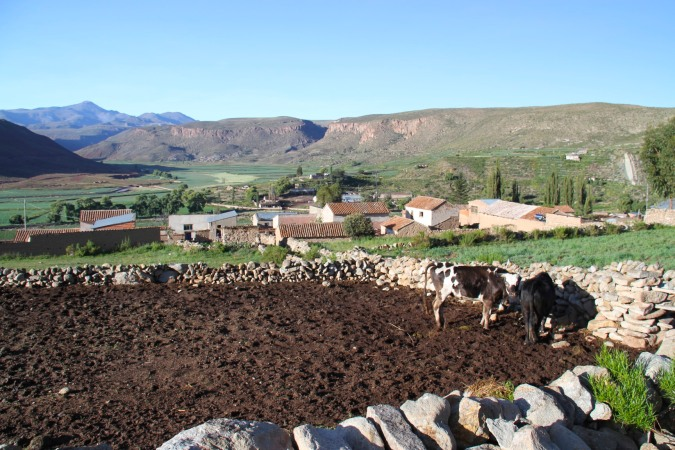 View over Cayara Village, Potosi, Bolivia