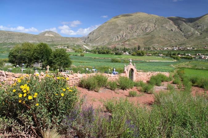 Cemetery, Cayara valley, Potosi, Bolivia