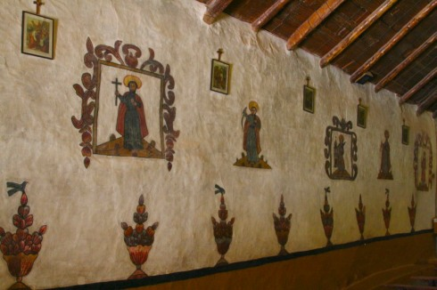 Naive frescoes in the church, Susques, Argentina