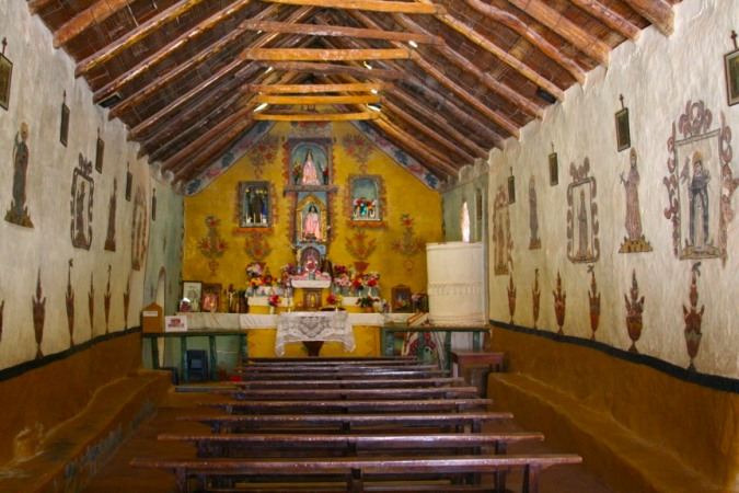 Church interior, Susques, Argentina
