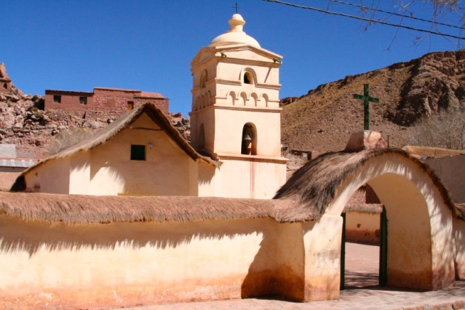 Adobe church, Susques, Argentina