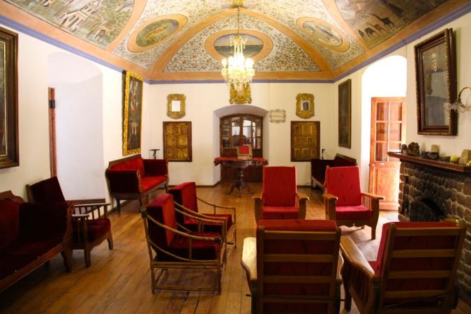 Sitting room, Hacienda Cayara, Potosi, Bolivia