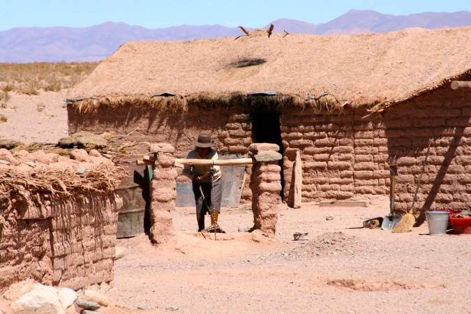 Adobe house en route to Susques, Argentina