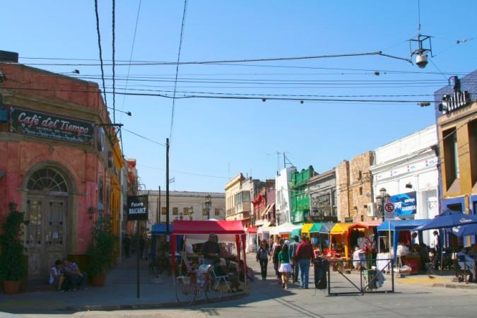 Street market in Calle Balacre, Salta, Argentina
