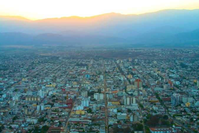 View over Salta from Cerro San Bernardo, Argentina