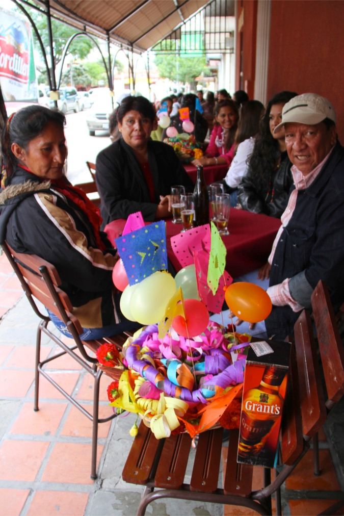 Basket of traditional items, comadres, Tarija, Bolivia