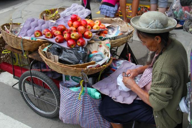 Street vendor, Tarija, Bolivia