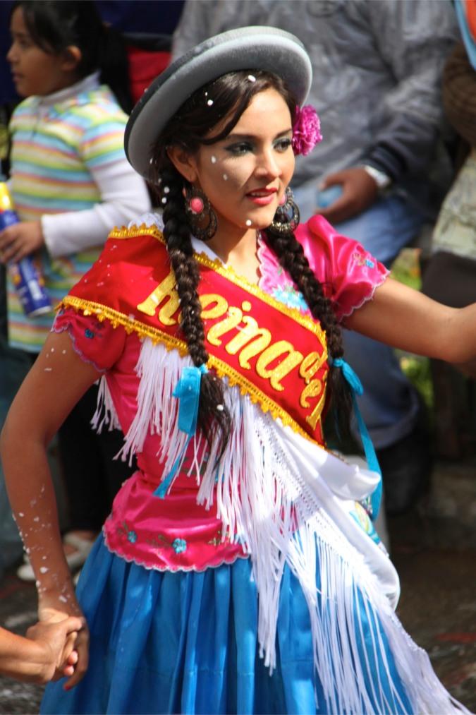 Performer at carneval in Tarija, Bolivia