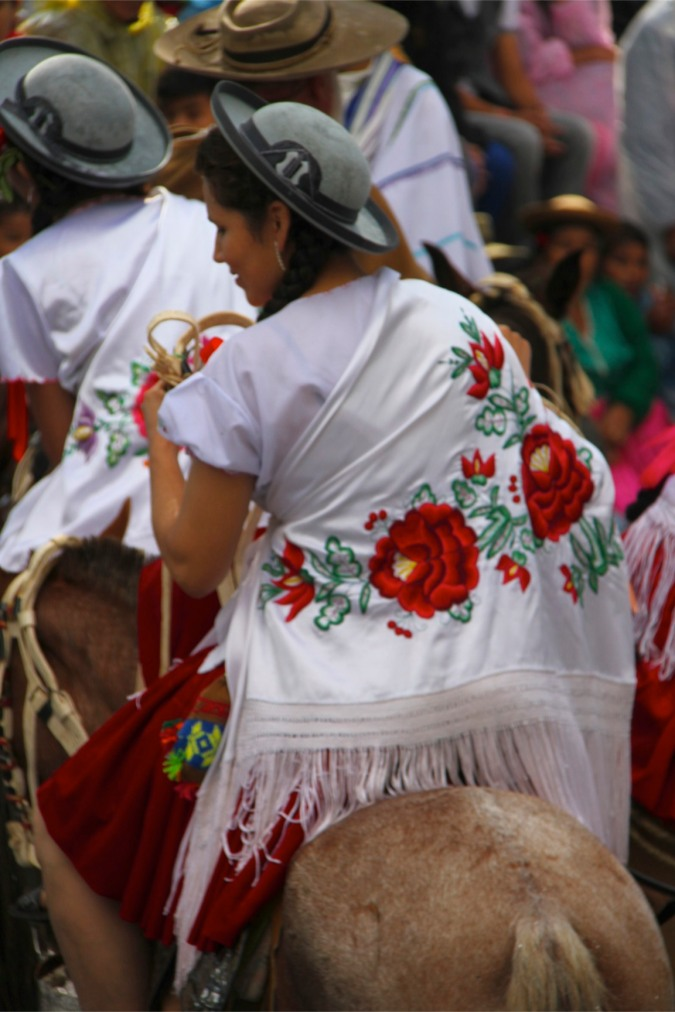 Performer at carneval in Tarija, Bolivia