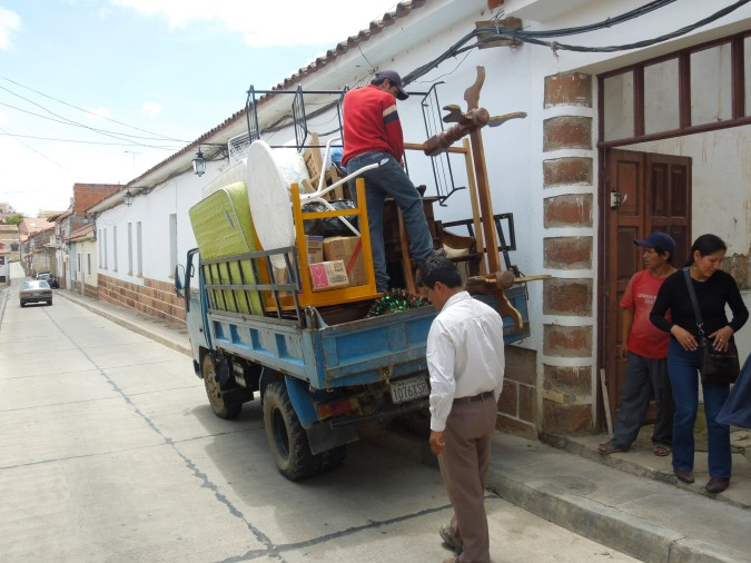 House removals, Bolivian style, Sucre