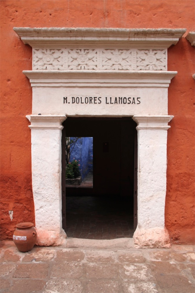 Entrance to private quarters, Monestario de Santa Catalina, Arequpia, Peru