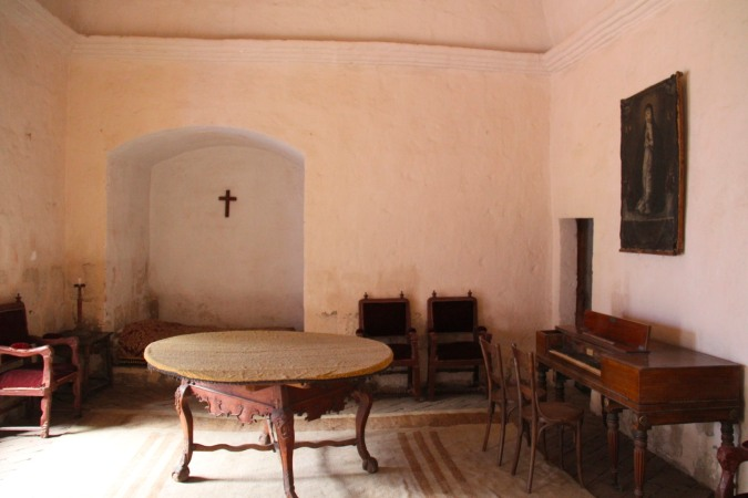 A wealthy nun's room with piano, Monestario de Santa Catalina, Arequpia, Peru