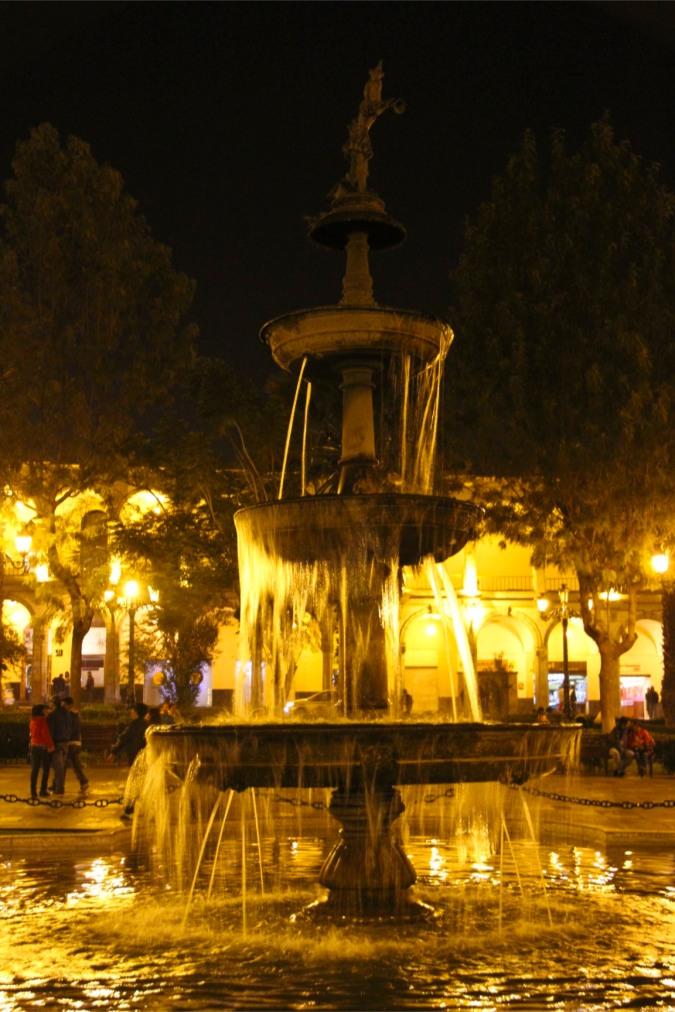 Fountain, Plaza de Armas, Arequipa, Peru