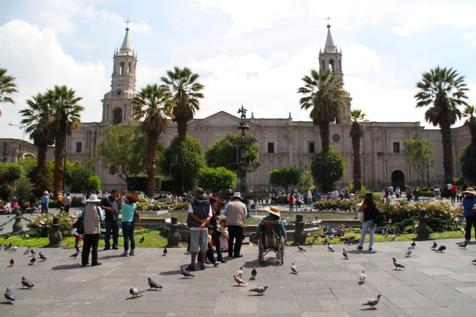 Arequipa Cathedral, Plaza de Armas, Peru