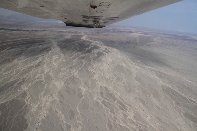 The desert surrounding Nazca, Peru