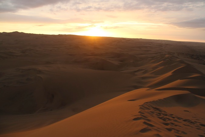 The desert near the oasis of Huacachina, Ica, Peru