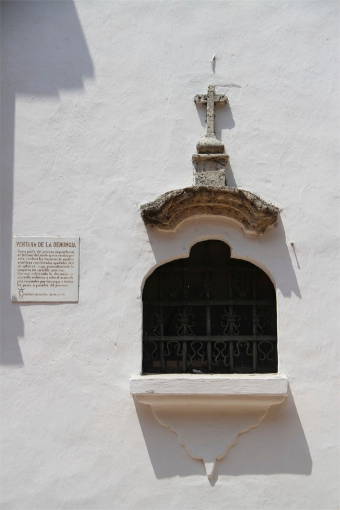 Denunciation window, Palace of the Inquisition, Cartagena, Colombia