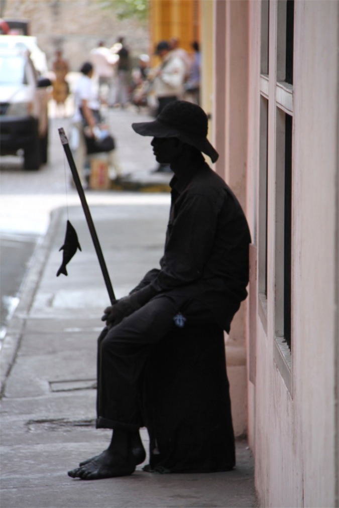 Street performer, Cartagena, Colombia